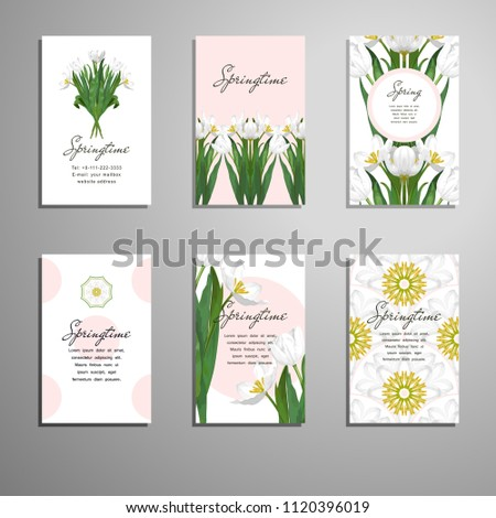 set of six business cards a