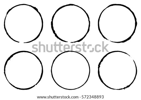 set of six cofee ring stains