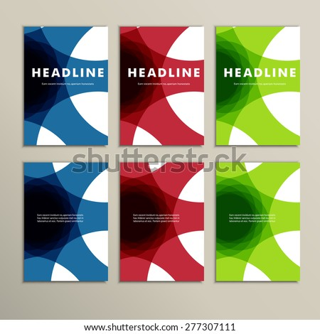set of six covers with abstract