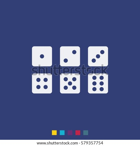 set of six dices