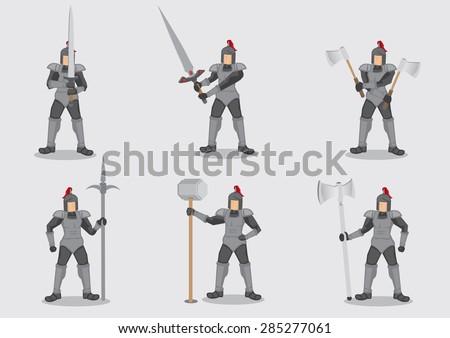 set of six vector cartoon