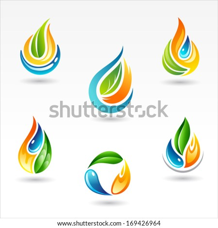 set of six vector design of