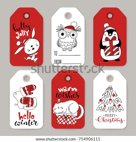 set of six vector holiday
