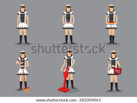 set of six vector illustration