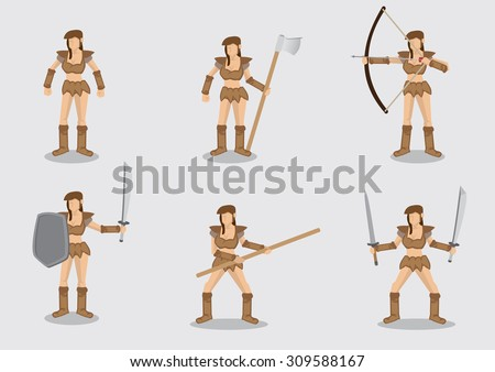 set of six vector illustrations