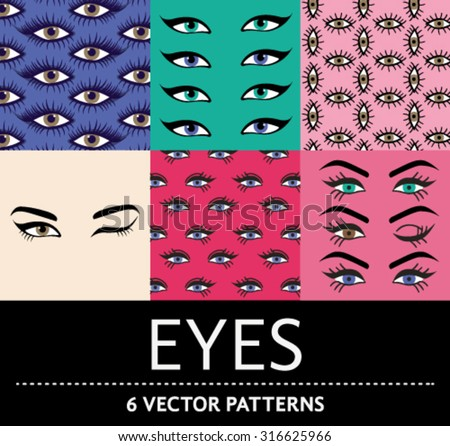 set of six vector patterns