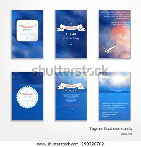 set of six vertical business