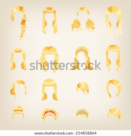 set of sixteen different blond