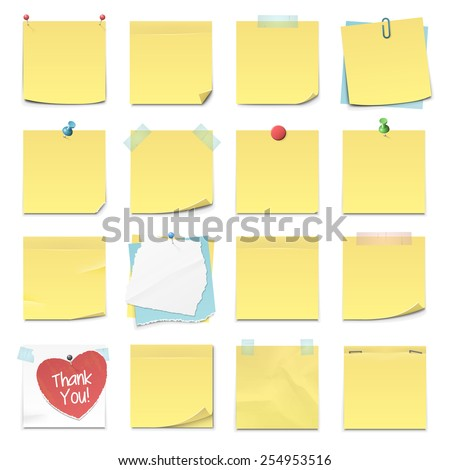 set of sixteen different yellow