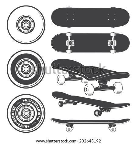 set of skateboards and