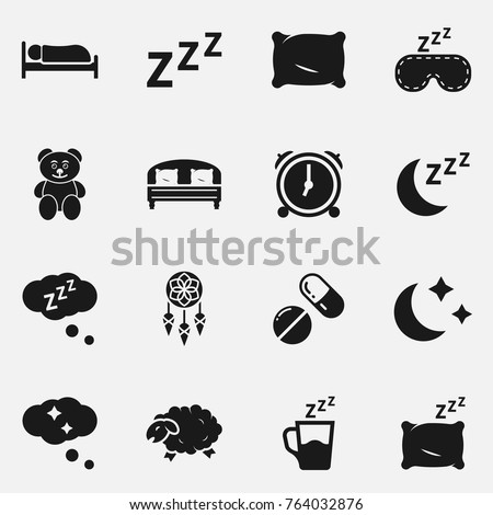 Set of sleep vector icons.