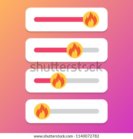 Set of slider fire for social media. Vector illustration.