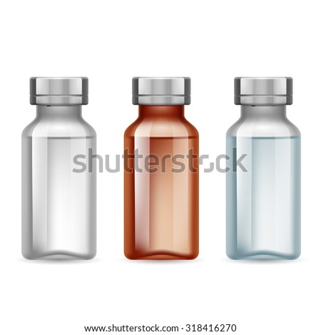 set of small medical bottle