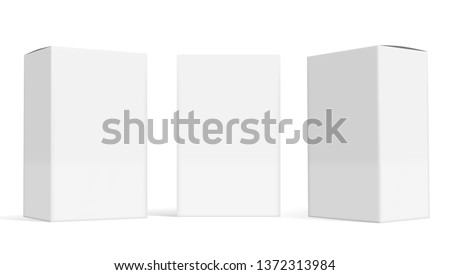 set of small white cardboard