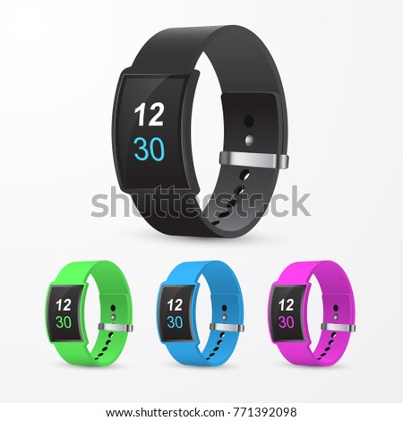 set of smart watches in