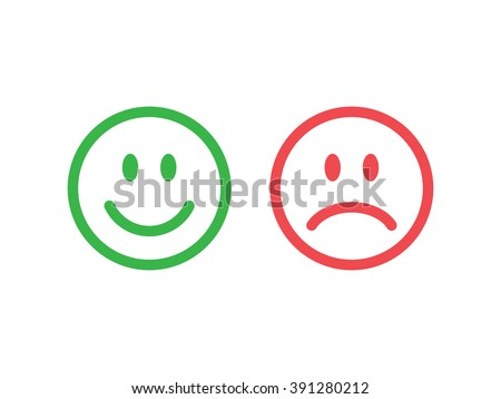 set of smile emoticons isolated