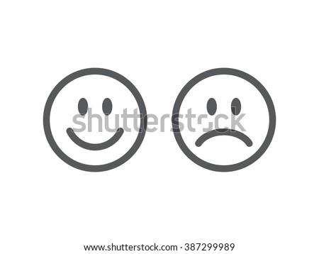 set of smile emoticons line