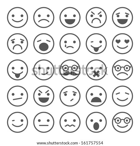 set of smiley icons  different