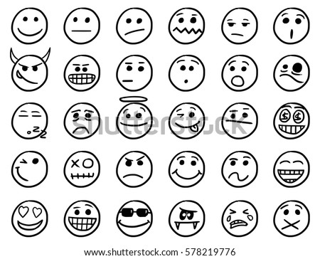 31 Hand Drawn Emoticon Shapes Free Photoshop Shapes At Brusheezy