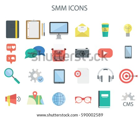 set of smm icons perfect for