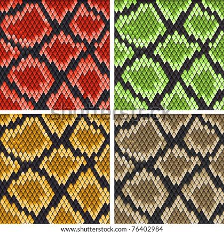 set of snake skin patterns for