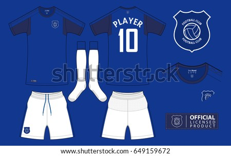 set of soccer kit or football