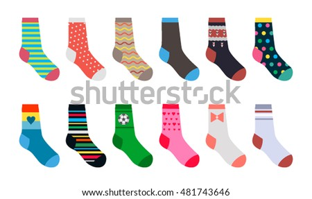 set of socks in a different...