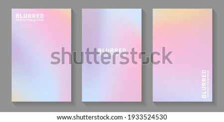 Set of soft cloud background in pastel colorful gradation. Modern blurred background. Vector EPS.10 Foto d'archivio ©