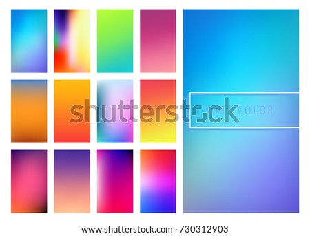 set of soft color gradients