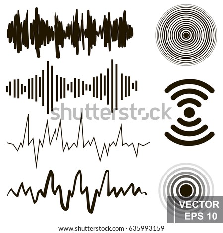 set of sound waves lines