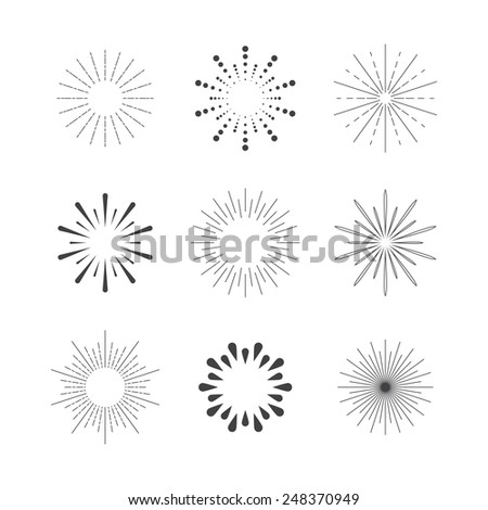 set of sparkles and bursts