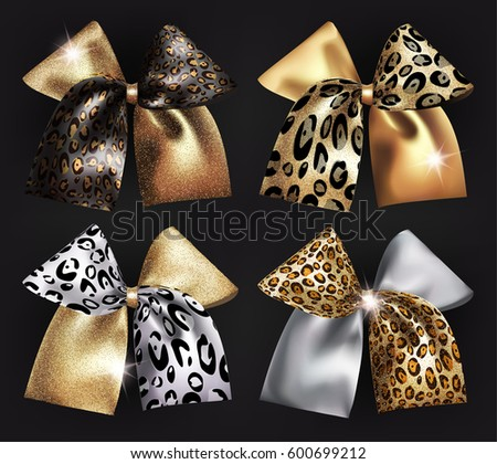 set of sparkling bows with wild