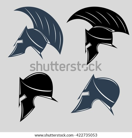 set of spartan helmets