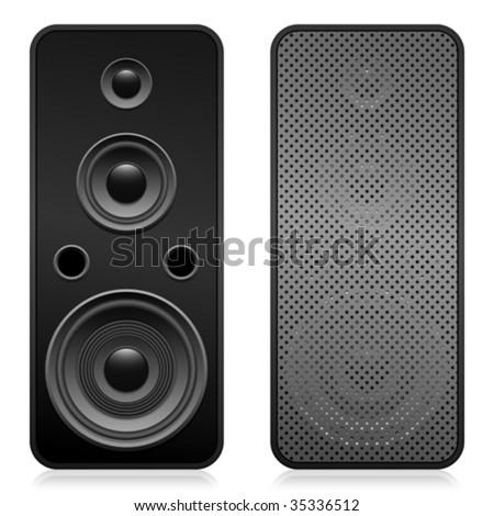 Set of speakers - vector