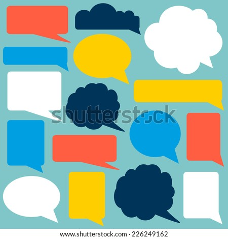 Set of speech bubbles. Infographic elements for your design.