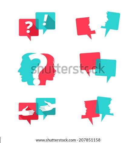 set of speech bubbles with