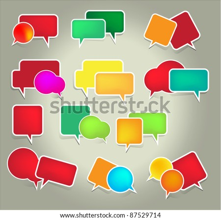 Set of speech vector elements - stock vector