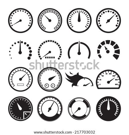 set of speedometers icons