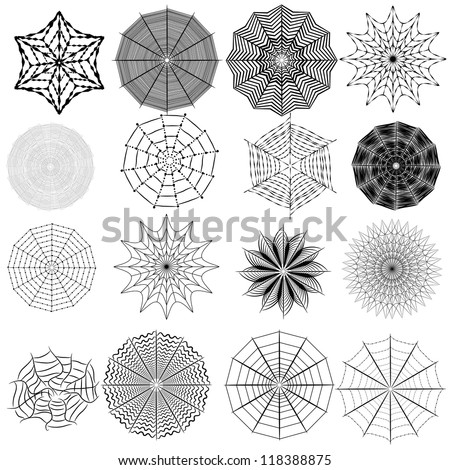 set of spiderweb. Vector collection