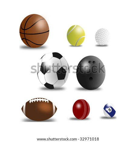 Set of Sport Balls Vector
