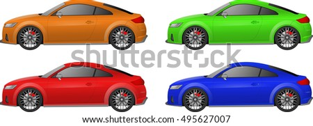 set of sport car different