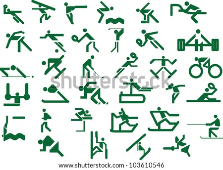 Set of sport icons. Vector illustration - stock vector