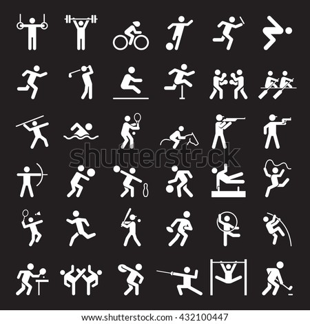 Set of sport icons. Vector illustration.