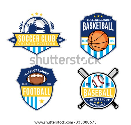 set of sport team logo