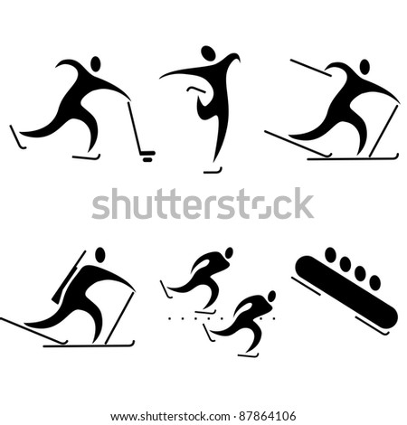 set of sports icons. winter sports, the Olympic disciplines. Stock photo ©