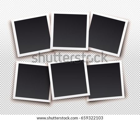 set of square frame template