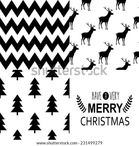 Set of square greeting cards and patterns with Christmas and New Year Calligraphic And Typographic Background Greeting stylish illustration of winter wishes Good for design cards or posters