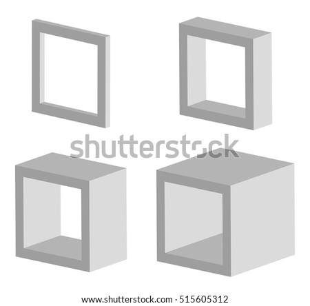 Set of square vector models Foto stock ©