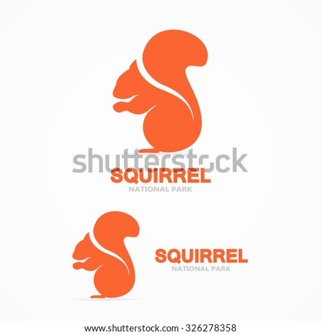 set of squirrel vector logo