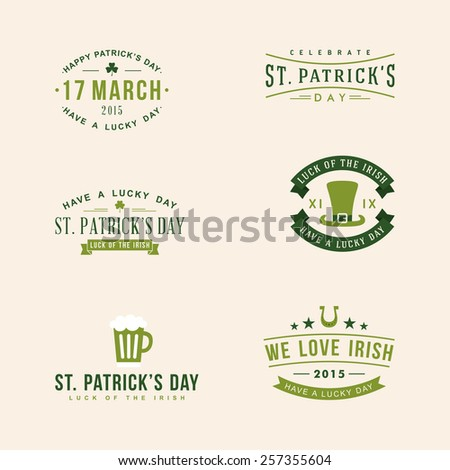 set of st patrick's day card